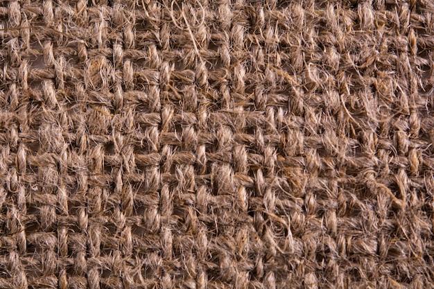 Close up of burlap texture