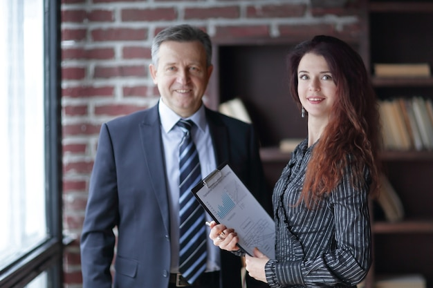Close up.business colleagues with financial documents. concept of a successful business