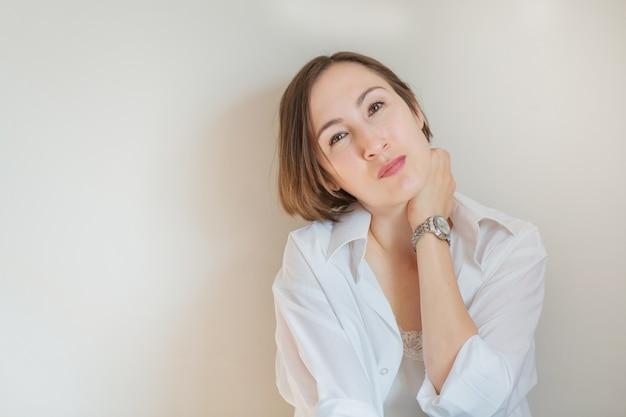 Крупным планом бизнес европейский женский портрет