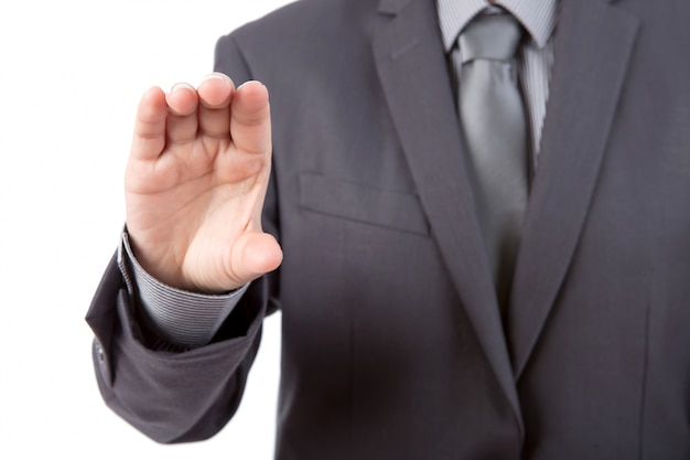 Close-up of businessman's hand holding something