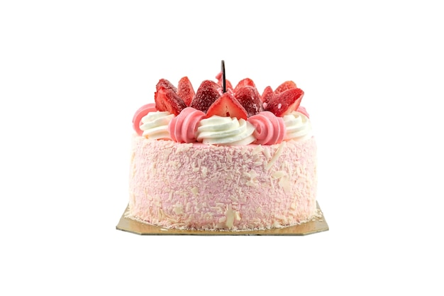 Close up of a cake isolated.