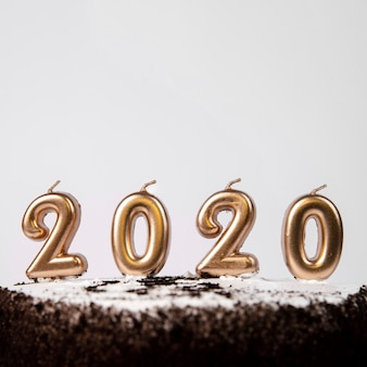 Close-up cake with 2020 new year digits