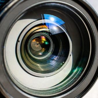 Lense反射のカメラレンズを閉じます。
