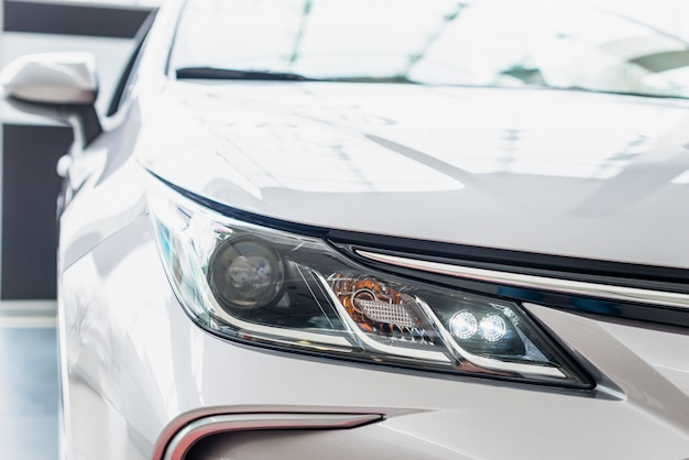 Close up of car in dealership