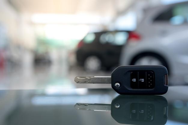 Close-up of the car key