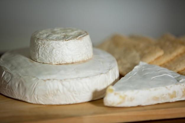Close-up of cheese at counter