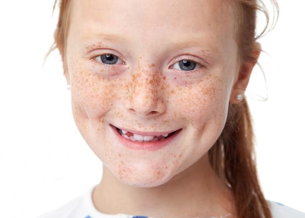 Close up child portrait