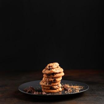 クローズアップチョコレートクッキー