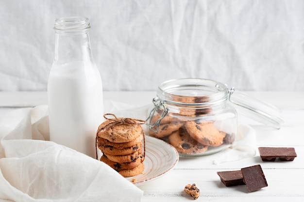 Шоколадное печенье крупным планом