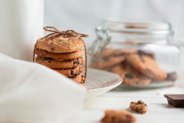 Close-up biscotti al cioccolato