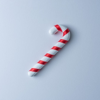 Close up on christmas candy cane stick