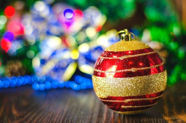 Крупным планом рождественские украшения