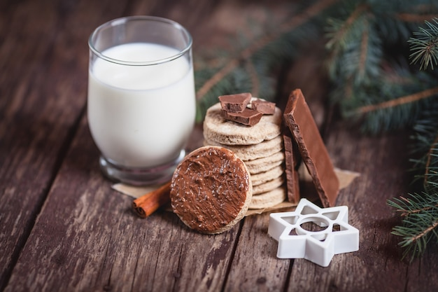 Close up of christmas snacks