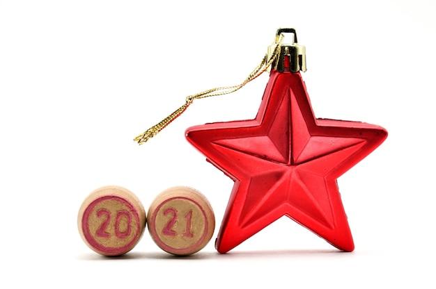 テーブルの上のクリスマスの星を閉じる