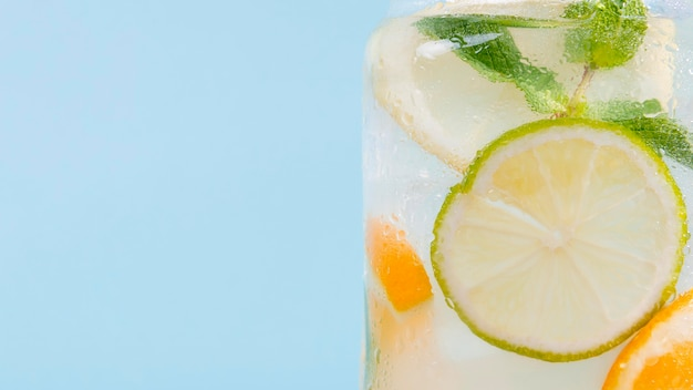 Close-up citrus drink