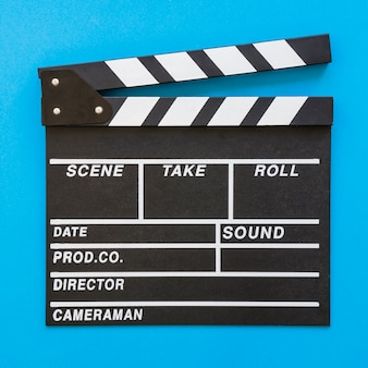 Close up clapperboard