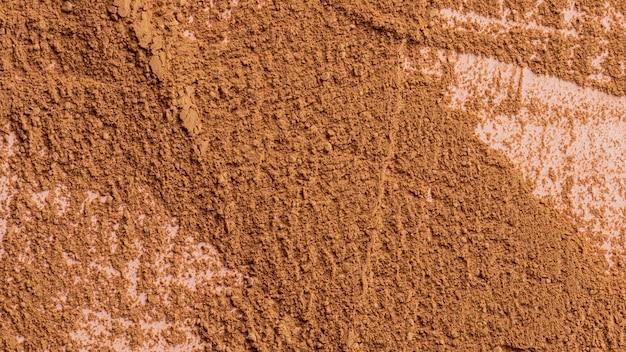 Close up of clay powder mixture