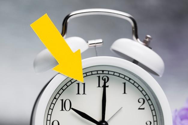 Close-up clock indicating spring time