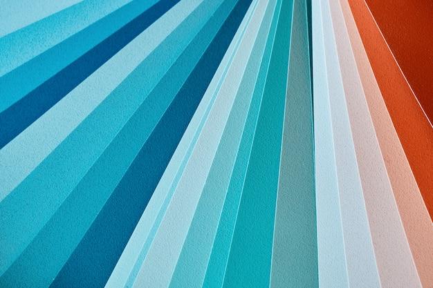 インテリアテクスチャペイントの色見本のクローズアップ
