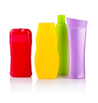 Close up of a colore bottles