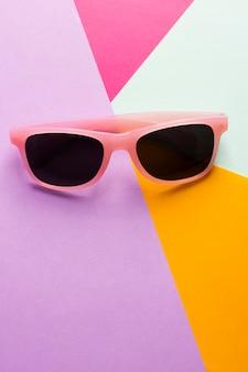 Close-up colorful retro sunglasses
