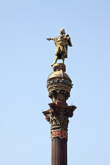 Close up of  columbus monument