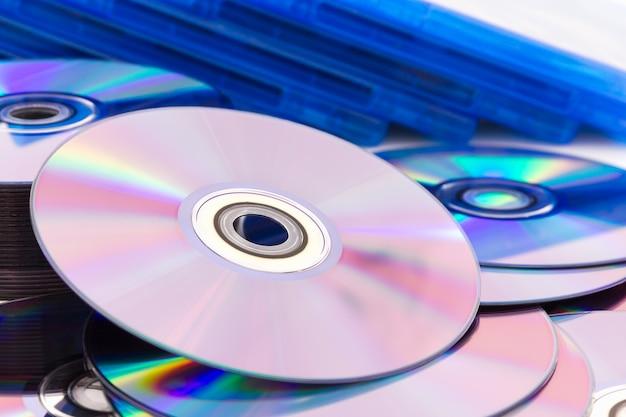 Close up compact discs (cd/dvd)