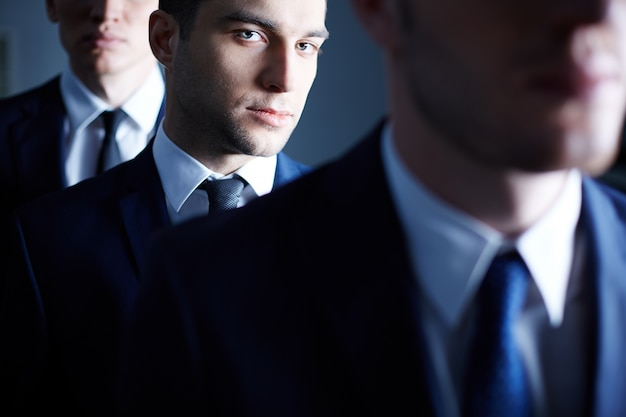 Close-up of confident businessman