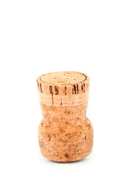 Close up of a cork placed upside down
