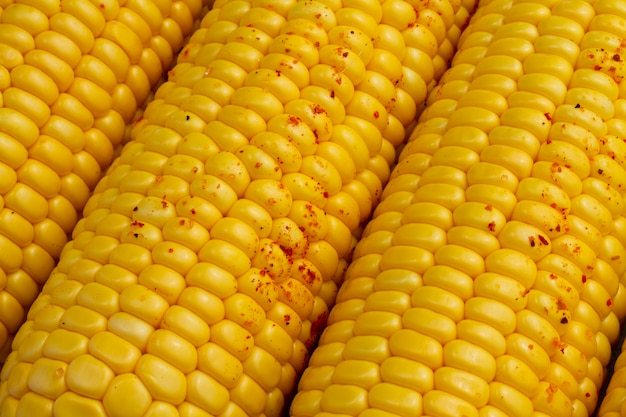 Close-up corn with chili powder
