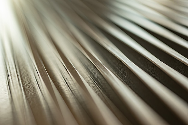 Close-up of a corrugated metal surface of an unidentified factory equipment
