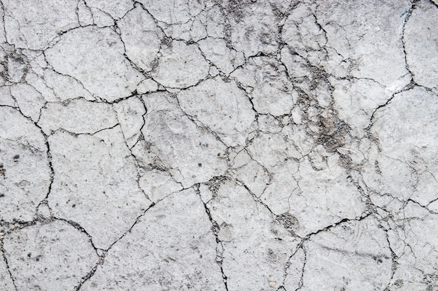 Close up of the cracked ground, dry soil texture for background