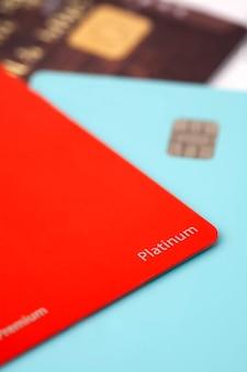 Крупный план кредитной карты