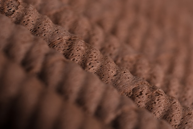 Close-up of a crispy chocolate rolls