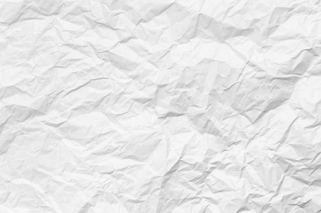 Close up on crumpled paper texture background