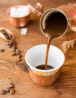 Чашка кофе крупным планом