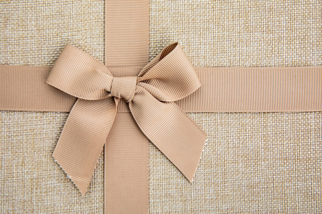 Close up cute ribbon bow