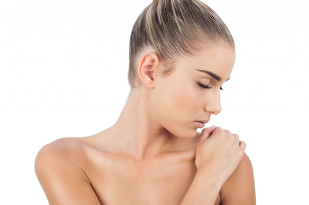Naked woman with closed eyes Photo   Free Download
