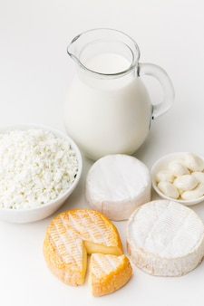Close-up dairy products