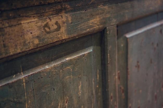 Close-up of damaged door