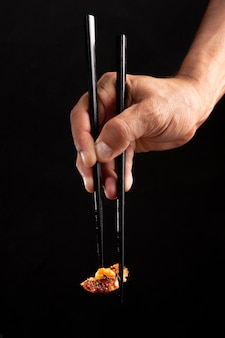 Close up on delicious asian food