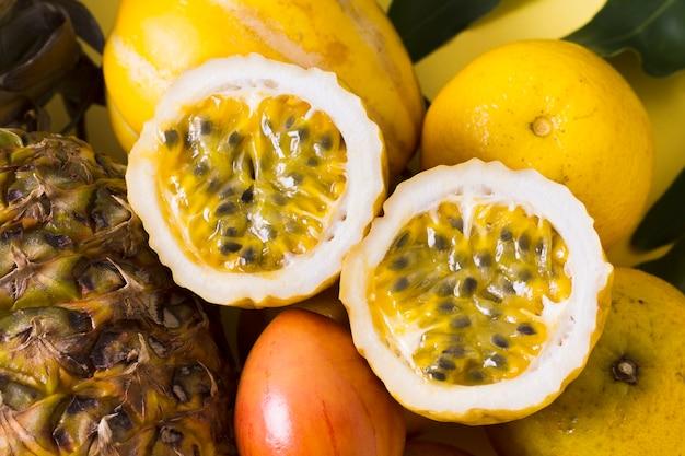Макро вкусные плоды гуавы готовы быть поданы