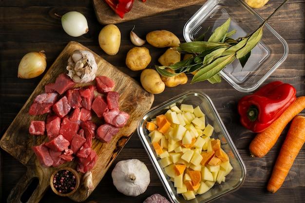 Primo piano sulla deliziosa preparazione dei pasti
