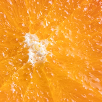 Primo piano delizioso arancio
