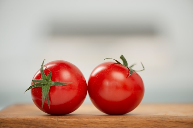 Close-up delicious red tomatoes
