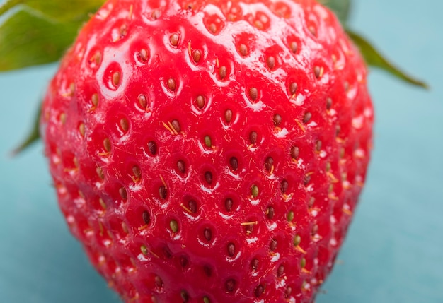 Close-up delicious strawberry ready to be served