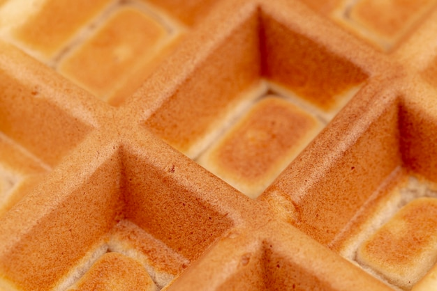 Close-up of delicious waffle