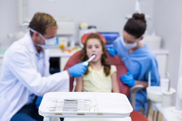 Close-up of dental tool
