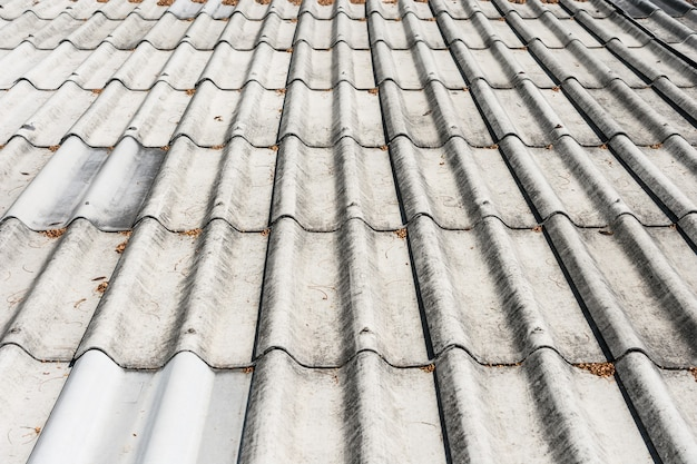 Close up detail and texture roof tile