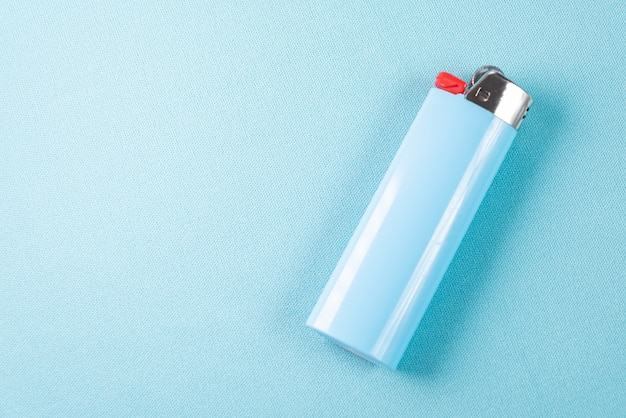 Close up details of a lighter isolated